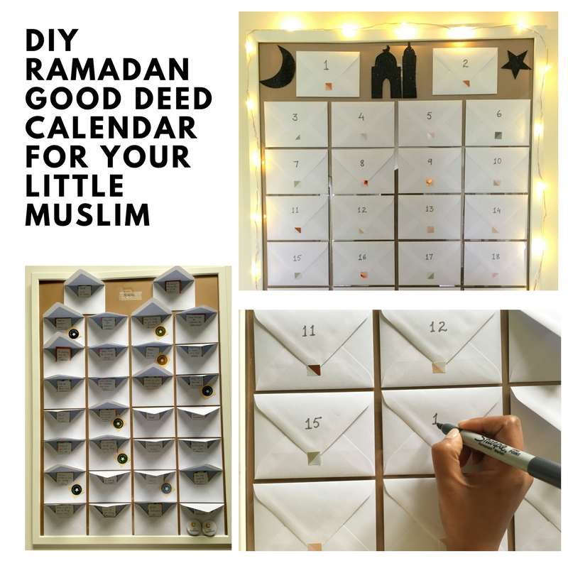 Diy Ramadan Calendar : Diy ramadan good deed calendar for your little muslimand