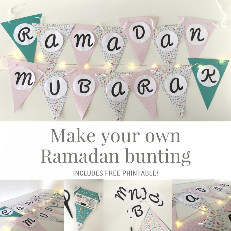 Fan image with ramadan printable