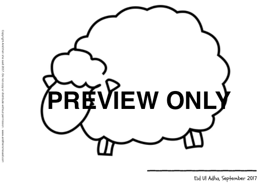 eid ul adha sheep printable