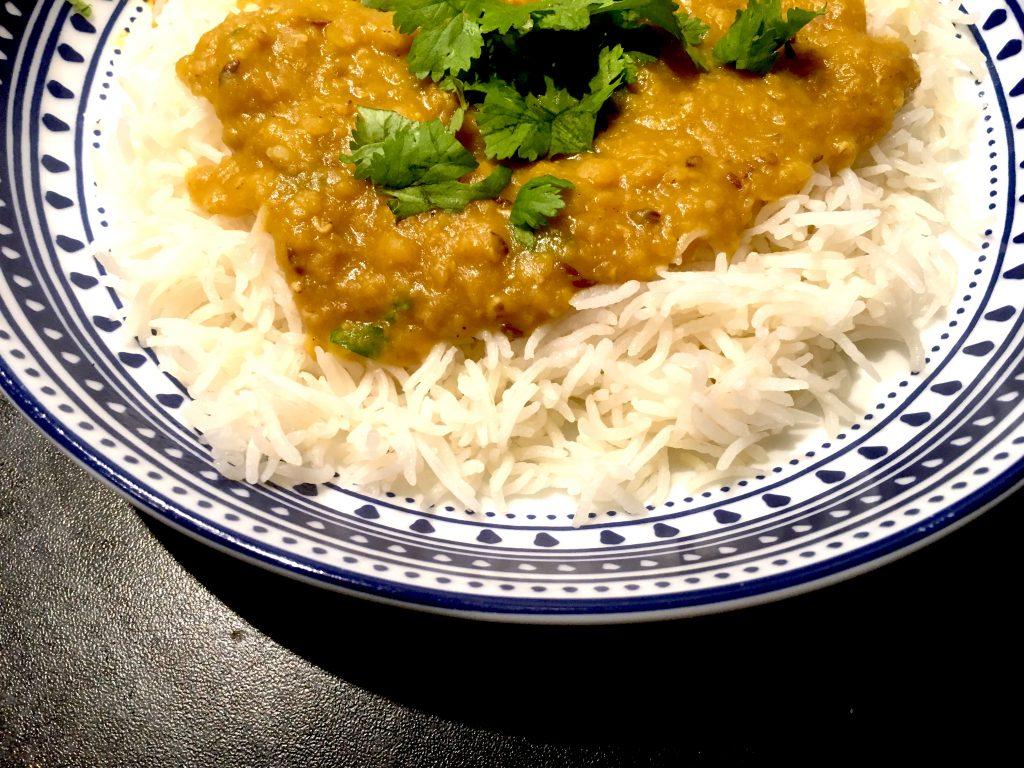 instant pot masoor daal and basmati rice