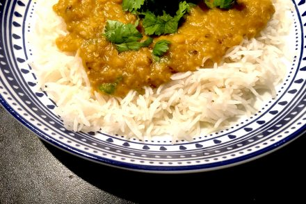 instant pot masoor daal and basmati rice
