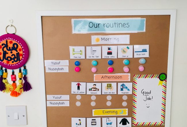 routine board printables