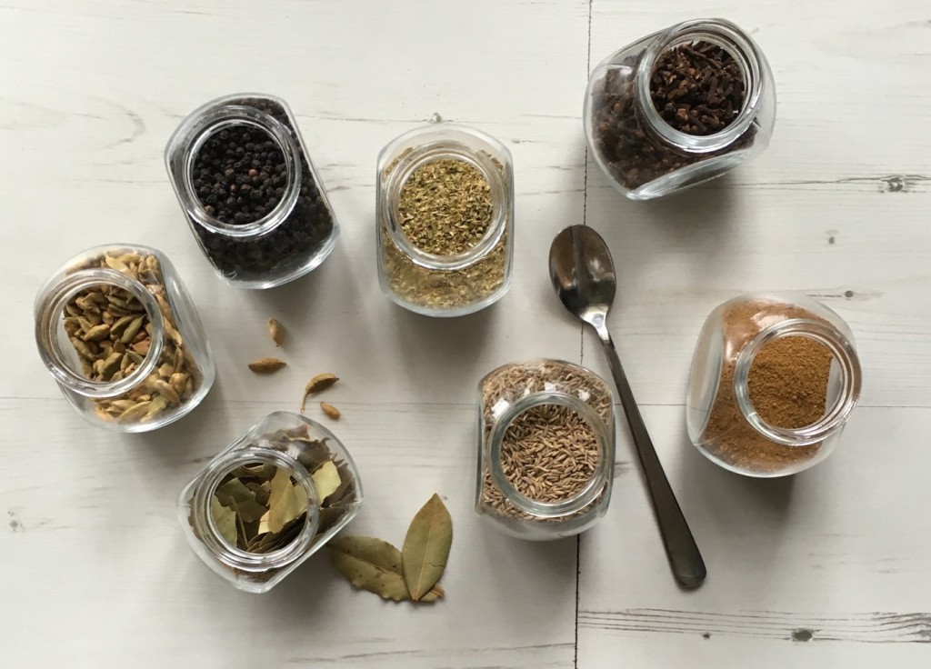 flat lay of spices