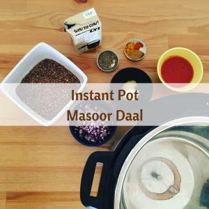 instant pot masoor daal recipe