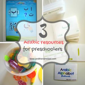 arabic resources for preschoolers