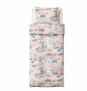 LJUDLIG duvet and pillowcase