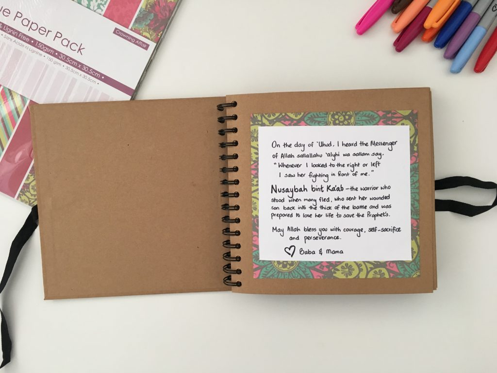 DIY lifebook for muslim child