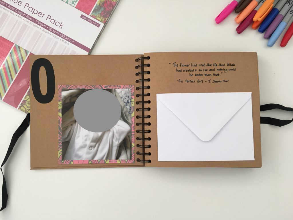 DIY lifebook with photos