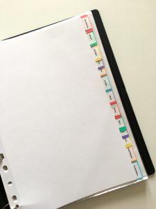 Recipe binder index