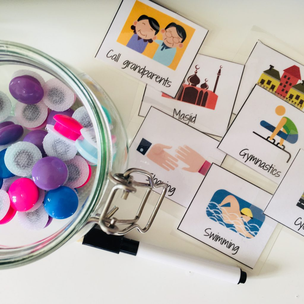 routine board printable cards and velcro dots