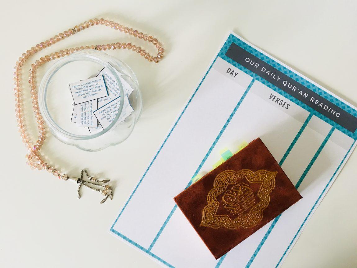 quran, reading tracker, good deeds