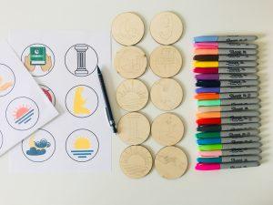 sketched illustrations on ramadan story circles