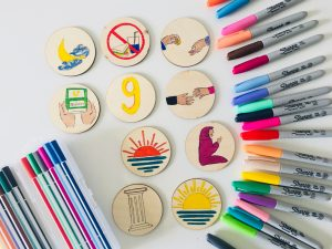 colourful story circles that can be used during Ramadan