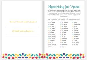 Juz 'Amma Hifdh Tracker inside pages